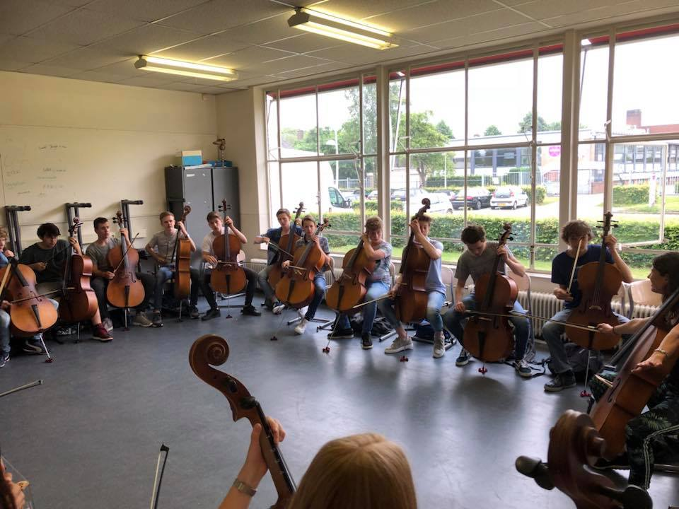 Cello en Saxofoon workshop voor 3e klas