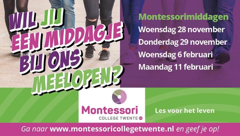 Aanmelden Montessorimiddagen