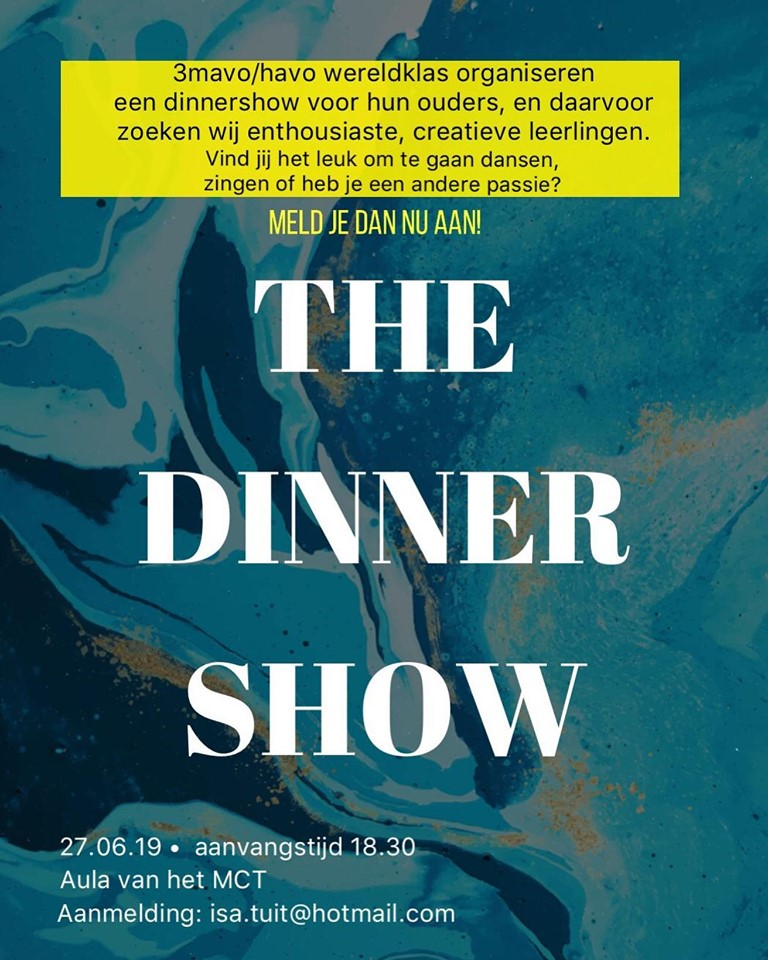 Gezocht: diverse acts voor Dinnershow